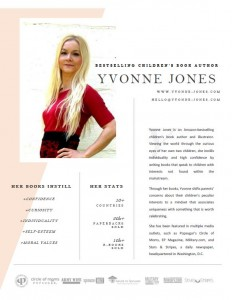 author yvonne jones media one pager
